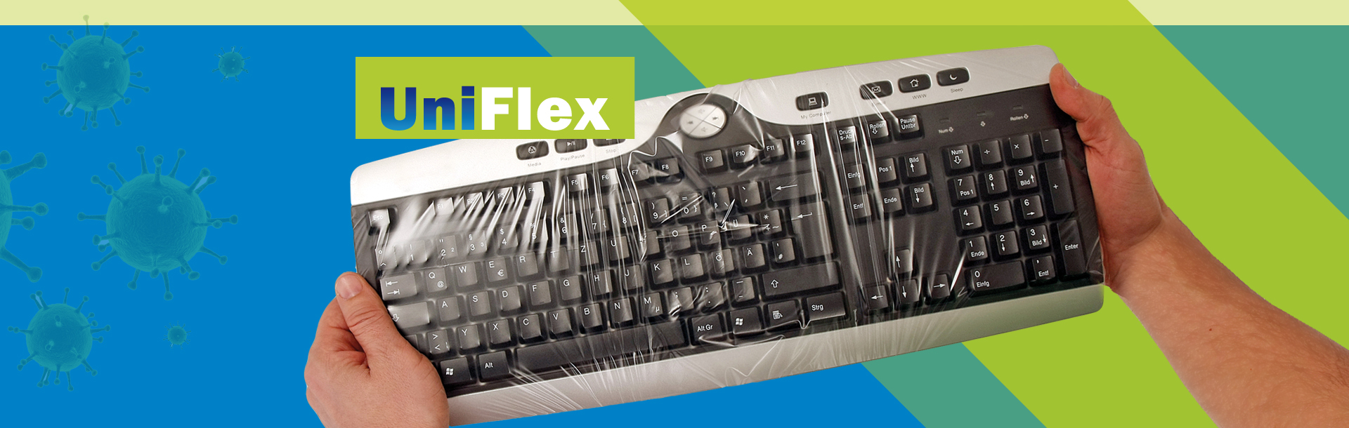 Universal flexible keyboard cover UNI FLEX - Baaske Medical