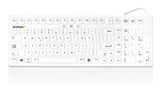 Medizinische Tastatur MediTouch ST US